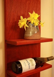 Paduk wine rack