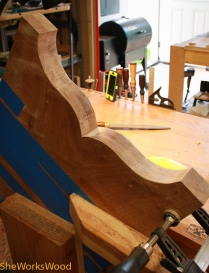 Shaping after band sawing.