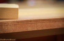 Once its cut to the proper depth mark in the width of the second rabbet.