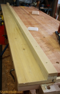8' sticking board with bench hook end.