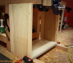 Once stock is cut to size and the top is sloped it should fit fine.