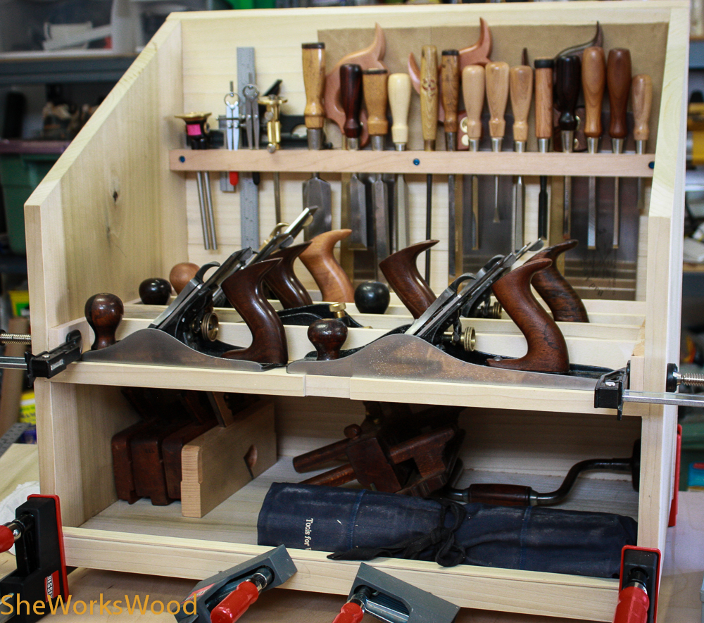 Finishing out the interior of the Dutch Tool Chest | She ...
