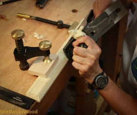 I used my hand plane to shape the battens.