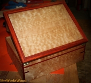Curly maple and paduk jewelry box