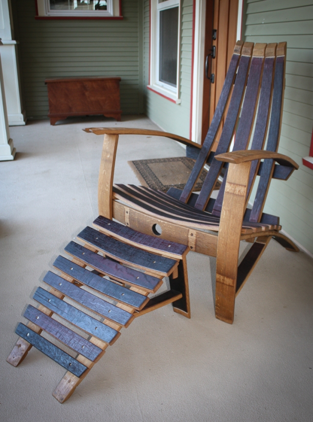 full oak barrel chair (1 of 1)