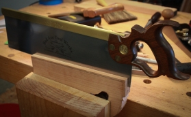 Cutting the slot for the blade.