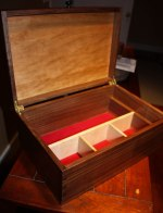 Quarter sawn walnut and cherry jewelry box