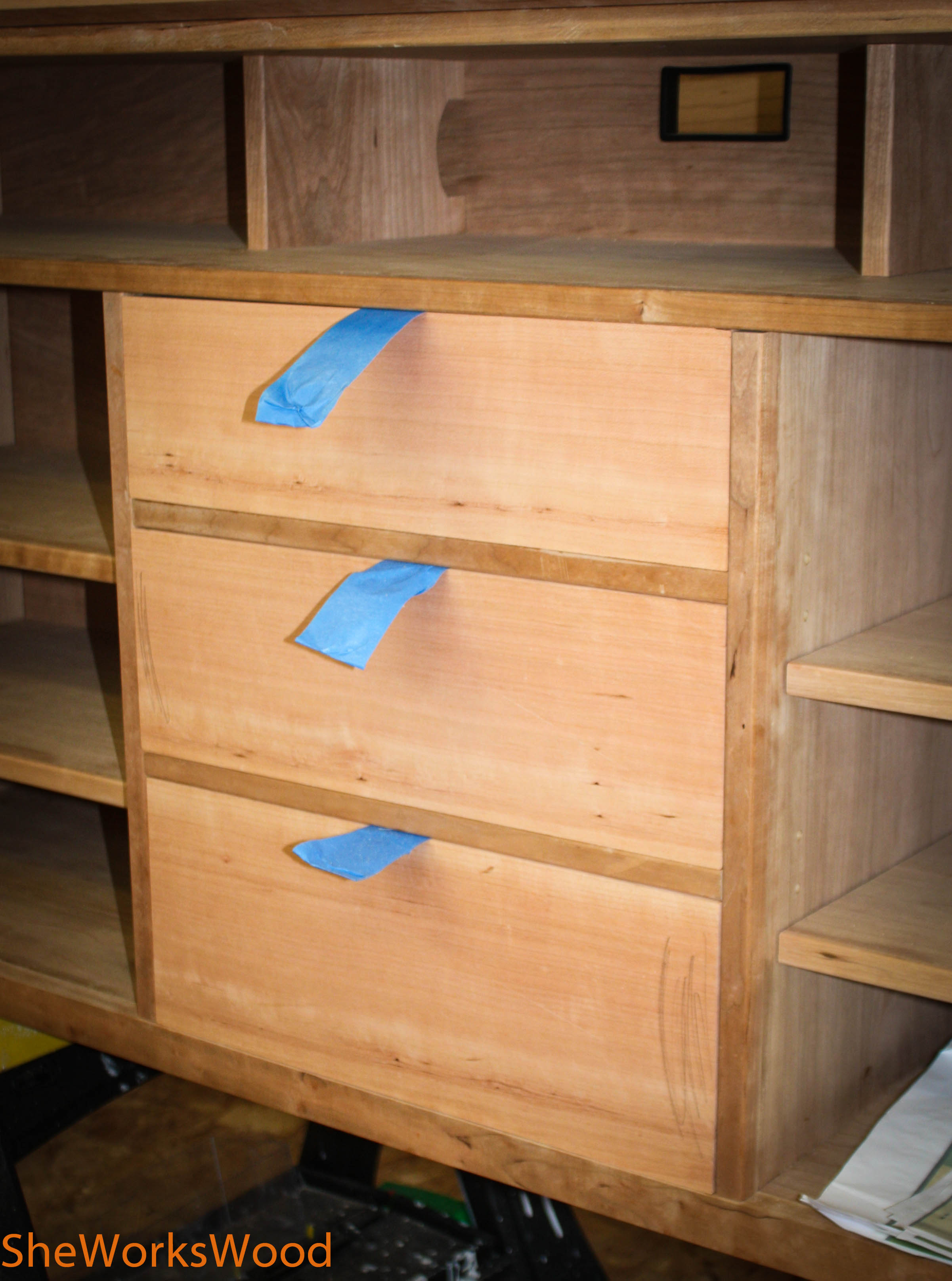 Tv Lift Table Drawer Fronts She Works Wood