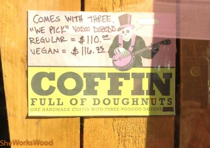 Buy 3 dozen and you get a coffin. Typical Portland humor.