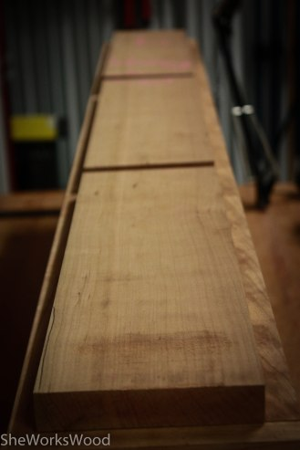 False drawer fronts made of 1/4 sawn cherry.