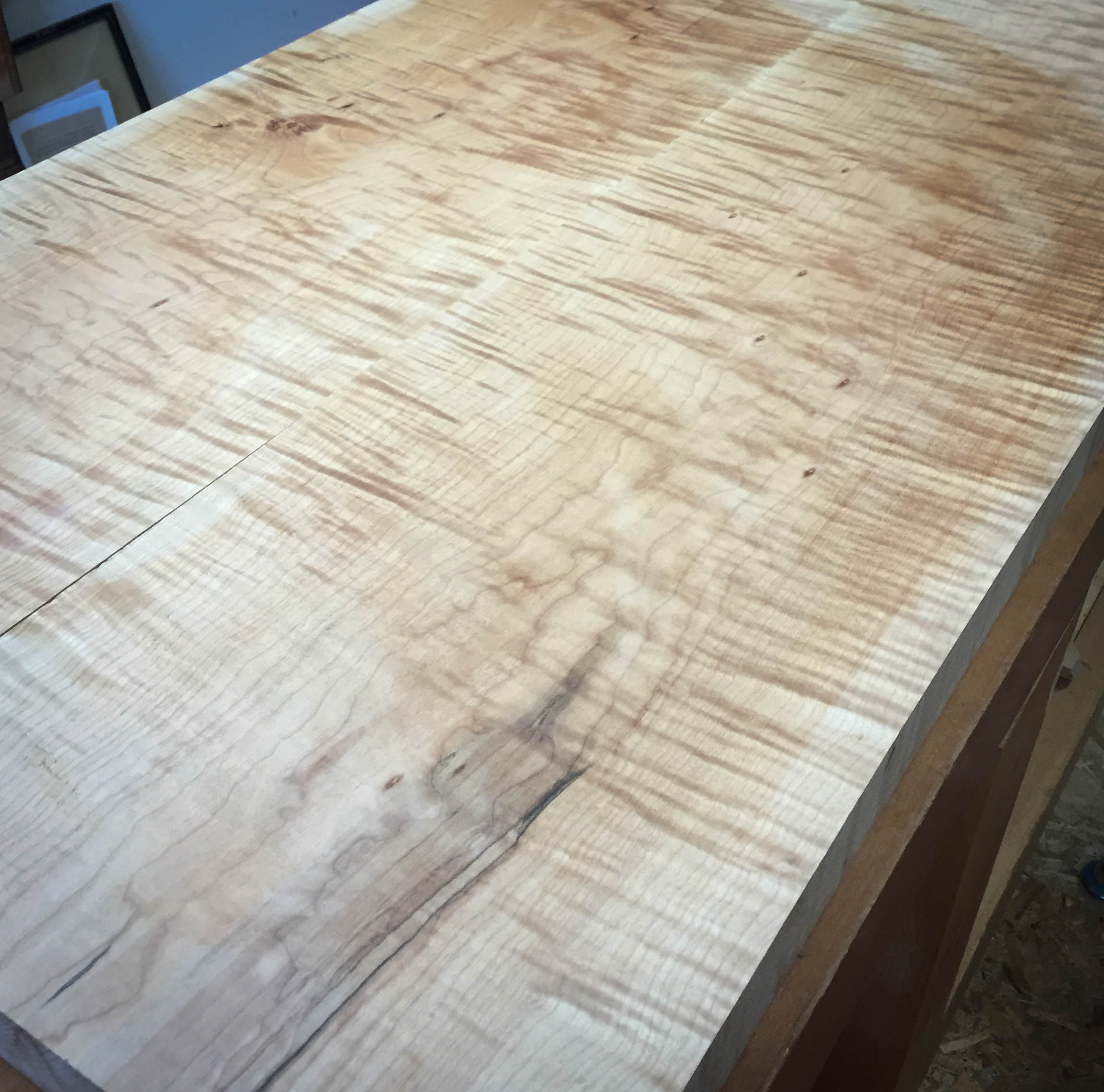 Curly Maple Counter Top She Works Wood