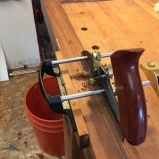Then I plowed a bead in the external frame with my new beading capability that my new Veritas plow plane.